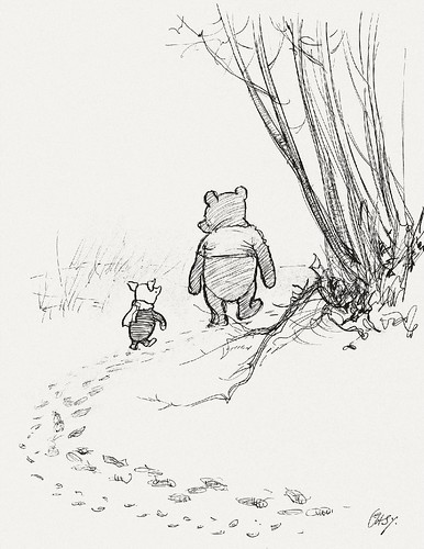 He Went on Tracking, and Piglet ... Ran After Him.