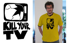 Kill your TV t-shirt on doctorfoodtruth