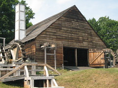 Mill with water wheels