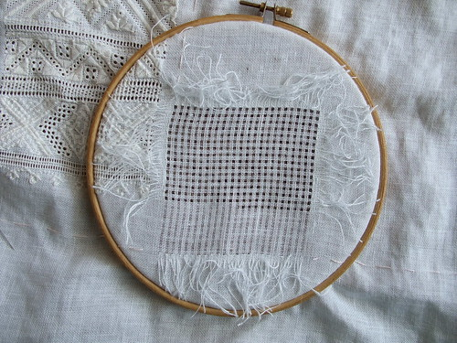 Naversom another whitework section done and needles