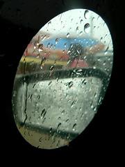 typhoon frank_raindrops on a side morror