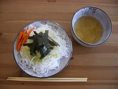Chilled Japanese Noodles in Dipping Broth