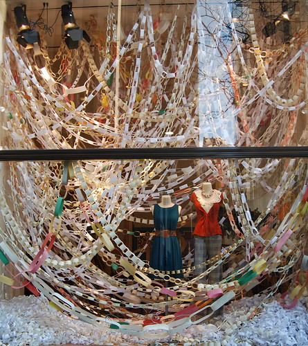 Anthropologie Paper Link Chain Store Window