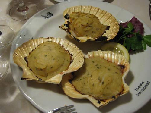scallops au gratin
