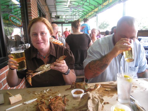 Michele modeling the way to have MD Crabs