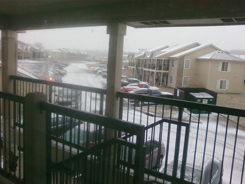 and now we're getting snow. oh lordy!