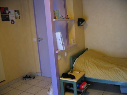 My bed and door.