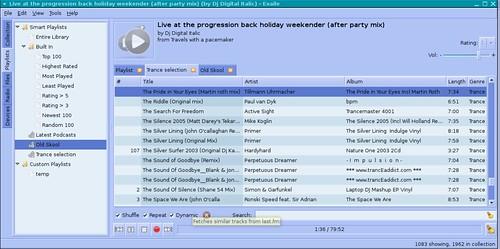 exaile's last.FM dynamic feature