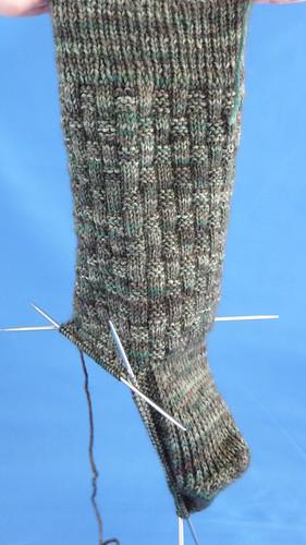 Backet Weave Sock