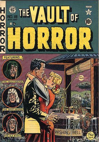 El guardián de La Cripta, El guardián de la tumba y La Vieja Bruja, ellos presentaban las historias con humor negro.