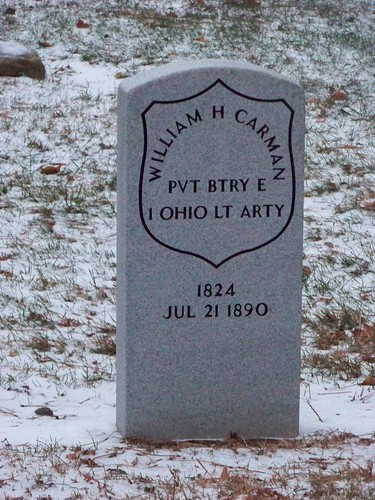 William Carman tombstone