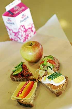 Typical lunch or breakfast matpakke