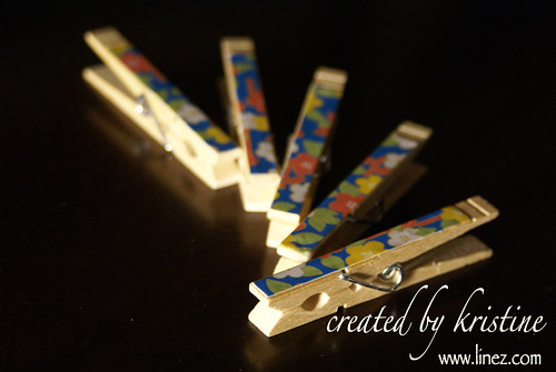 Chiyogami Clothespins
