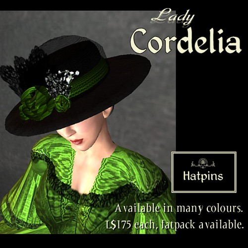 Sister hat to Lady Mildred, Lady Cordelia is able to hold her own.