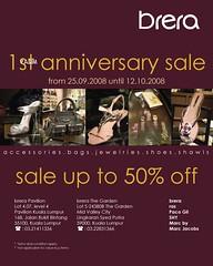 Brera 1st Anniversary sale