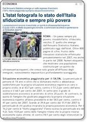 L'Istat fotografa lo stato dell'Italia sfiduciata e sempre più povera - economia - Repubblica.it