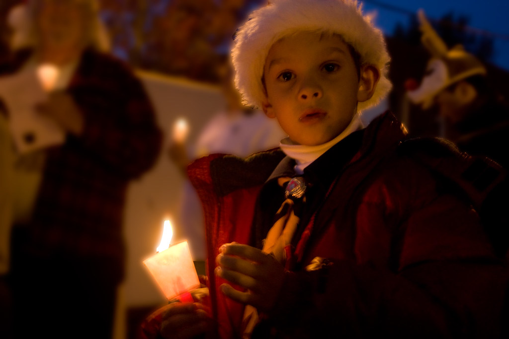 Taken at a Parade of Lights in downtown San Rafael