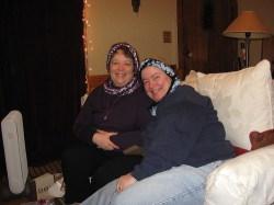 Mom & Donna mobius scarves