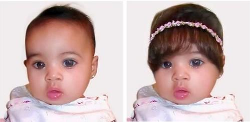 baby bangs garter plus hairpiece for baby girls
