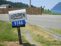 Golden Distillery Sign