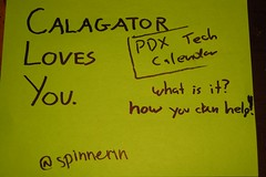 Calagator Loves You session at BarCampPDX