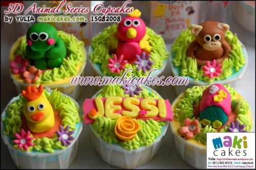 3D Animal Series Cupcakes_ - Maki Cakes
