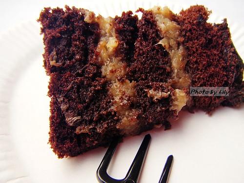 焦糖香蕉蛋糕切片