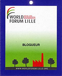 Mon entrée au World Forum de Lille