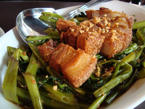 Adobong Kangkong with Lechon Kawali by Botong's Up