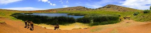 Rano Raraku: Kratersee