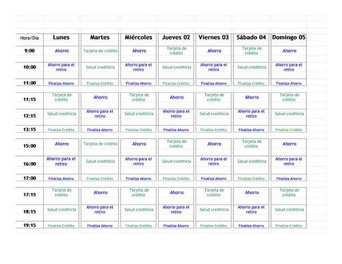 Calendario cursos MIDE