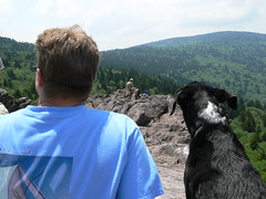 Rhododendron Gap - Bill and Jimmie Take in View