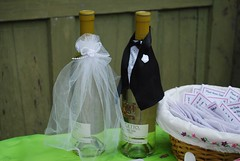Bride and Groom Wine Bottle Decorations