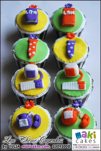 Law Theme Cupcakes - Maki Cakes