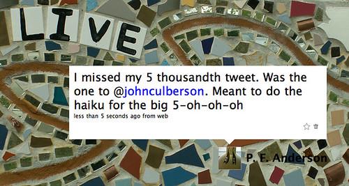 5,000 Tweets!