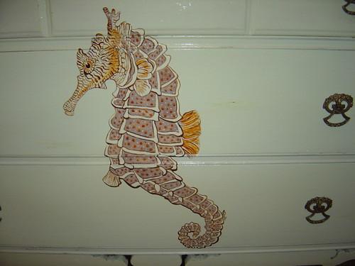 Sea horse dresser front
