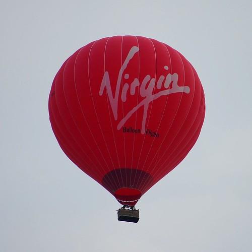 Virgin Balloon over Tiverton
