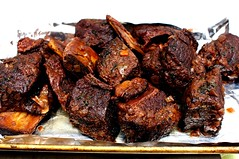 short ribs, removed from braise