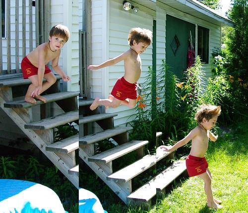 The Monkey boy jumps!