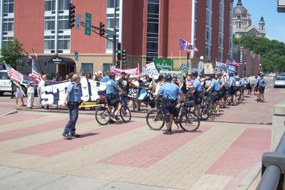 cops at RNC protest