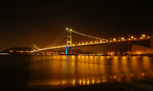 Hong Kong - Tsing Ma bridge by cnmark.