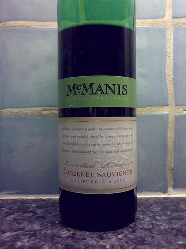 McManis Limited Release Cabernet Sauvignon 2006