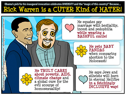 Rick Warren is a CUTER Kind of HATER! by M1khaela.