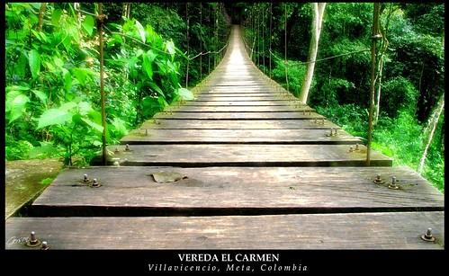 Puente Colgante - Vereda El Carmen - Villavicencio