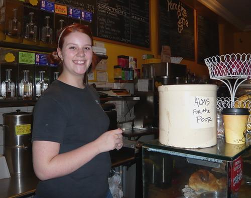 Skyler, barista at the Paradise Cafe