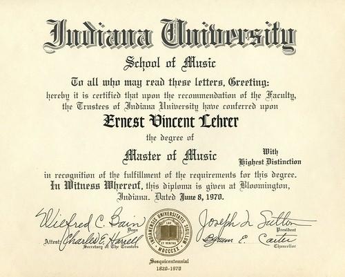 Ernie's IU Masters