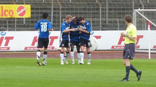 Bielefelder Jubel nach dem 0-2