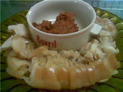 Boiled pork and belacan