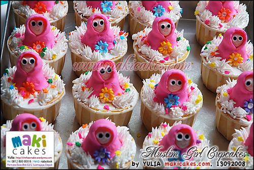 Muslim Girl Cupcakes - Maki Cakes