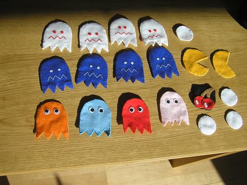 pacman felt toys